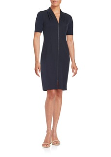 ELIE TAHARI Frances Zip-Front Dress