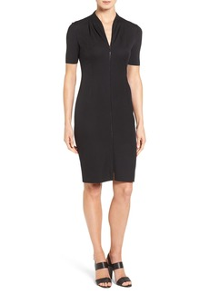 Elie Tahari 'Frances' Zip Front Sheath Dress