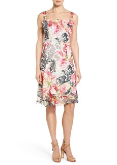 Elie Tahari 'Gelsie' Print Lace Sheath Dress