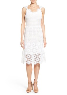 Elie Tahari 'Goranna' Cotton Lace Midi Dress