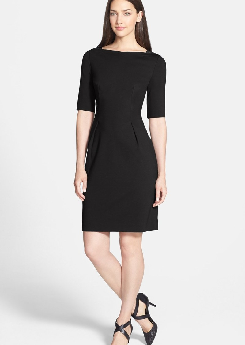 Elie Tahari 'Hallie' Elbow Sleeve Knit Sheath Dress