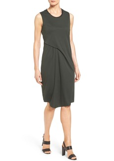 Elie Tahari 'Isolde' Asymmetrical Drape Sleeveless Shift Dress