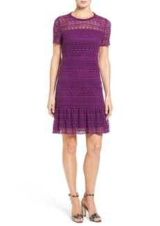 Elie Tahari 'Jacey' Crochet Lace A-Line Dress