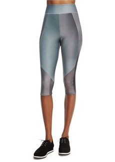 Elie Tahari James High-Waist Micro Mesh Sport Leggings