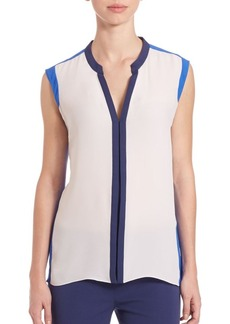 Elie Tahari Karrie Colorblocked Blouse