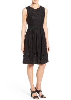 Elie Tahari 'Kia' Embellished Fit & Flare Dress