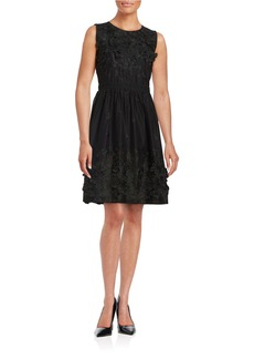 ELIE TAHARI Kia Floral Accented Dress