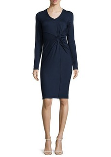 Elie Tahari Kyle Long-Sleeve Twist-Front Dress  Kyle Long-Sleeve Twist-Front Dress