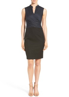 Elie Tahari 'Laken' Faux Wrap Sheath Dress