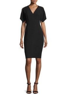 Elie Tahari Lourdes Short-Sleeve Sheath Dress