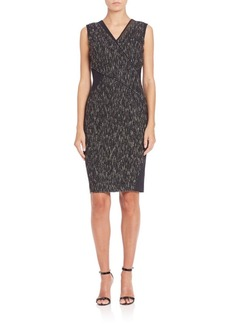 Elie Tahari Maisy Mixed-Media Dress