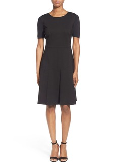 Elie Tahari 'Maria' Mixed Media Fit & Flare Dress