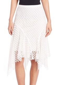 Elie Tahari Melly Lace Asymmetrical Skirt