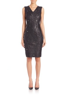 Elie Tahari Merime Mirrored-Embroidery Dress