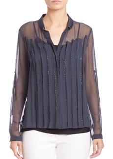Elie Tahari Poppy Silk Blouse