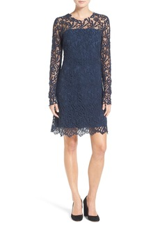 Elie Tahari 'Priscilla' Long Sleeve Lace A-Line Dress