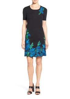"Elie Tahari 'Royce"" Floral Embroidered Sheath Dress"