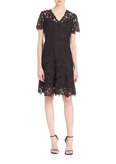 Elie Tahari Samira Fit-and-Flare Dress
