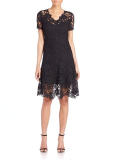 Elie Tahari Samirah A-Line Lace Dress