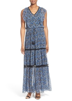 Elie Tahari 'Sanna' Tiered Silk A-Line Maxi Dress