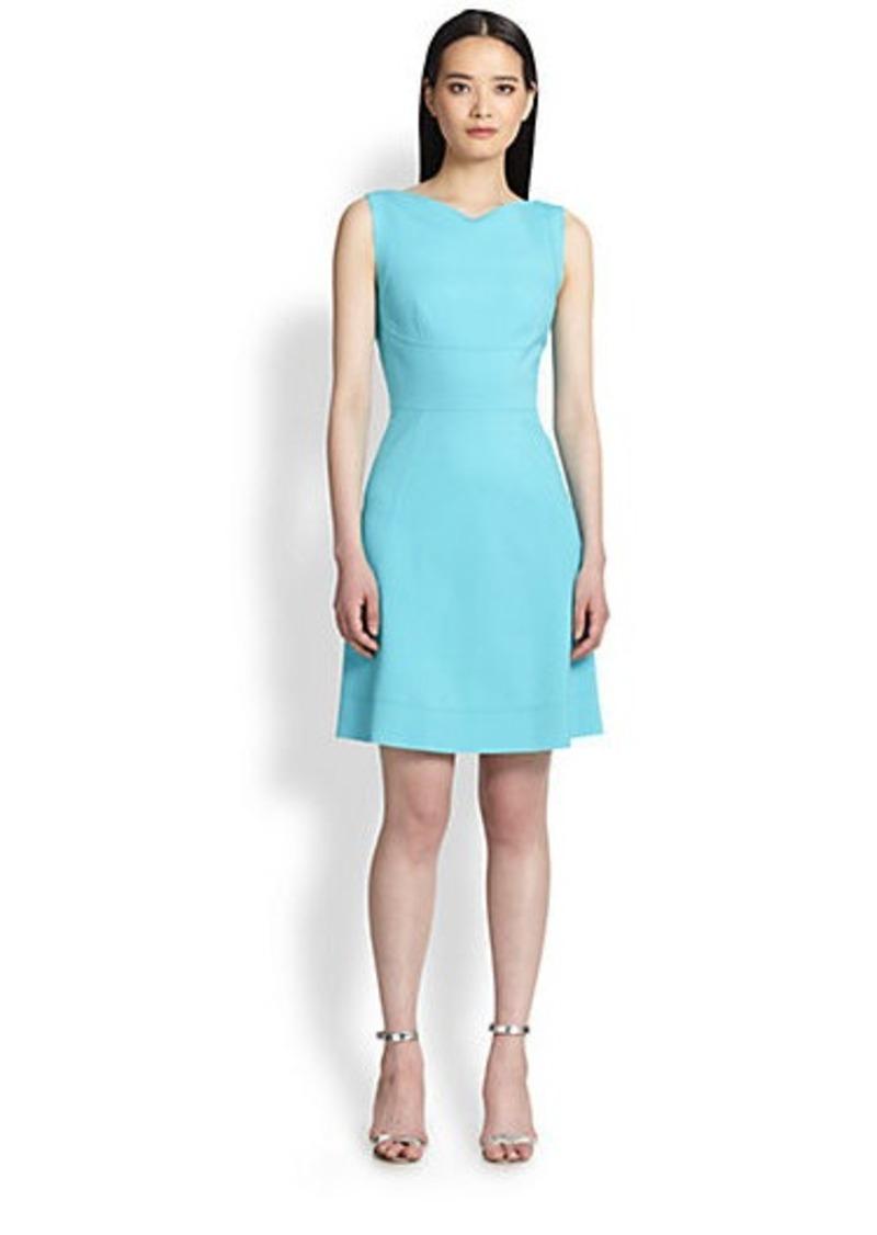 Elie Tahari Seamed A-Line Dress