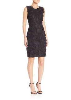 Elie Tahari Taura Applique Sheath Dress