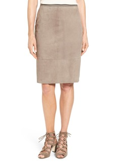 Elie Tahari 'Teresa' Suede Pencil Skirt