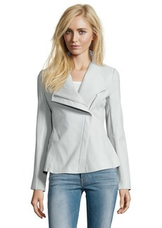 Elie Tahari white mint cotton trimmed leathe...