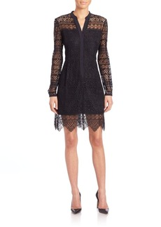 Elie Tahari Whitney Eyelet Shirtdress