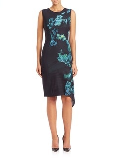 Elie Tahari Wynn Floral-Print Sleeveless Dress