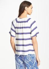 Ella Moss 'Anabel' Stripe V-Neck Top
