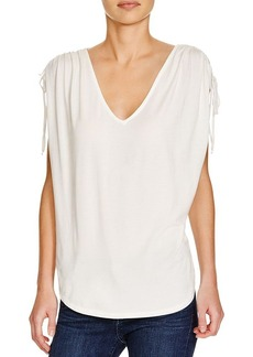 Ella Moss Bella Ruched Shoulder Tee
