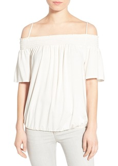 Ella Moss 'Bella' Smocked Cold Shoulder Top
