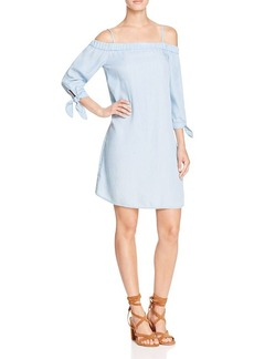 Ella Moss Cold-Shoulder Chambray Dress