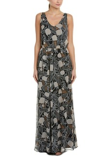 Ella Moss Ella Moss Floral Silk Maxi Dress