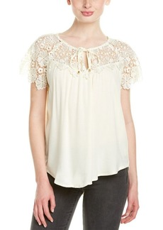 Ella Moss Ella Moss Lace Yoke Top