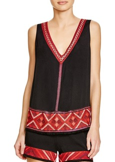 Ella Moss Hani Embroidered Tank