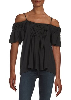 ELLA MOSS Knit Cold Shoulder Top
