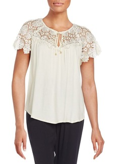 Ella Moss Lace Yoke Top