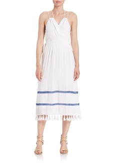 ELLA MOSS Midi Tassel Trim Dress
