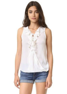 Ella Moss Miko Lace Up Ruffle Blouse