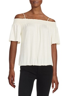 ELLA MOSS Off-the-Shoulder Knit Top