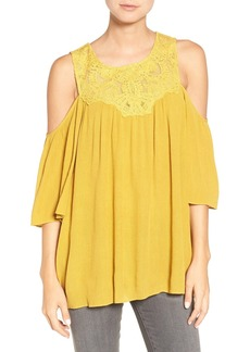 Ella Moss 'Olivier' Lace Cold Shoulder Top
