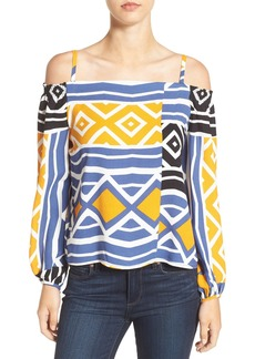 Ella Moss Print Cold Shoulder Top