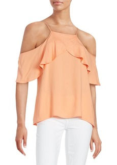 ELLA MOSS Ruffled Cold-Shoulder Top