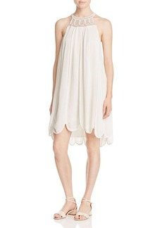 Ella Moss Scalloped Gauze Swing Dress
