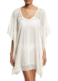 Ella Moss Swim Fex Crocheted Short Tunic  Fex Crocheted Short Tunic