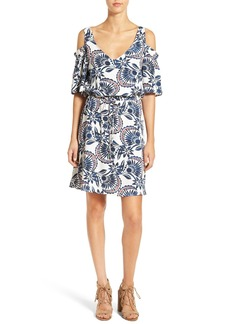 Ella Moss 'Tadala' Print Cold Shoulder Dress