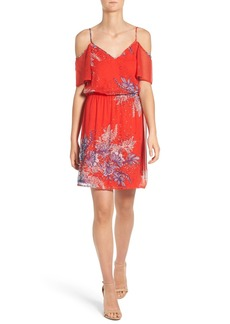Ella Moss 'Zaneen' Print Silk Cold Shoulder Dress