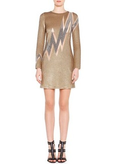 Emilio Pucci Beaded Lightning Bolt Mini Dress  Beaded Lightning Bolt Mini Dress